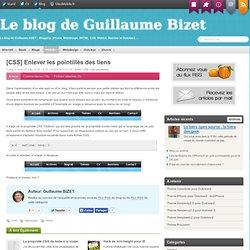 [CSS] Enlever les pointillés des liens - Guillaume Bizet