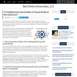 13 Enlightening Case Studies of Social Media in the Classroom