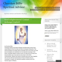Need enlightenment? Contact Archangel Jophiel!