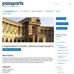 Enlightenment in Austria - Reforms under Joseph II