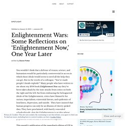 Enlightenment Wars: Some Reflections on 'Enlightenment Now,' One Year Later