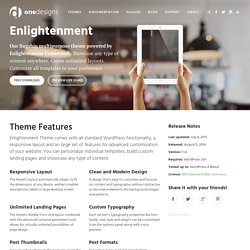 Enlightenment WordPress Theme by One Designs