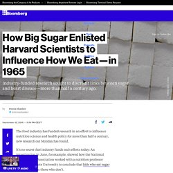 How Big Sugar Enlisted Harvard Scientists to Influence How We Eat—in 1965