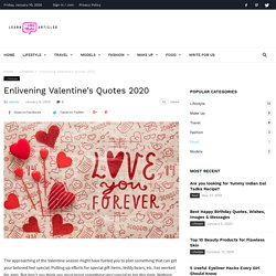 Valentine's Quotes For Him and Her