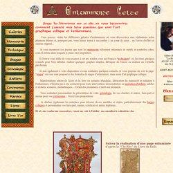 enluminure celte, galeries et techniques