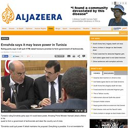 Ennahda says it may leave power in Tunisia - Africa