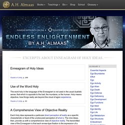 Enneagram of Holy Ideas - Glossary - A.H. Almaas