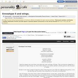 [Enneagram Type 5] Enneatype 5 and wings.