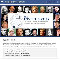 Enneagram Type 5: The Investigator - The Enneagram Institute