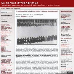 L'armée, ennemie de la société civile « Le Carnet d'Ysengrimus