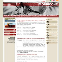 Ennio Morricone - Official Site - News
