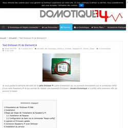 Test EnOcean PI de Element14 | Domotique 34