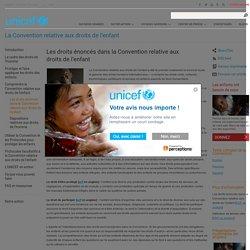 Les droits énoncés dans la Convention relative aux droits de l'enfant