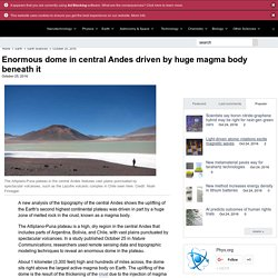 Cryptodome in central Andes driven by huge magma body beneath it