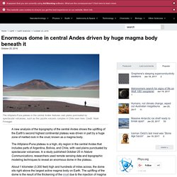 Enormous dome in central Andes driven by huge magma body beneath it (cryptodome)