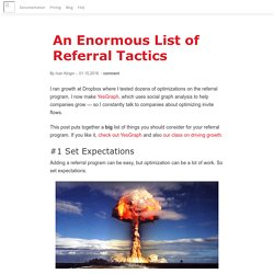 An Enormous List of Referral Tactics