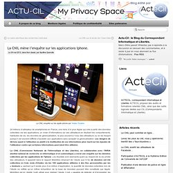 La CNIL mène l'enquête sur les applications Iphone.