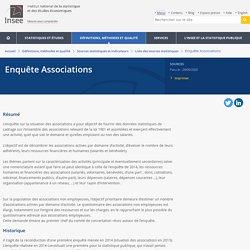 recensement des associations domaine d'activite