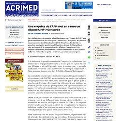 [2010] Une enquête de l'AFP met en cause un député UMP ? Censurée