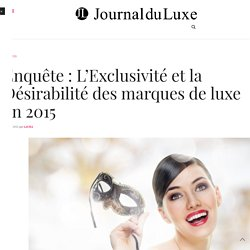 Enquete Promise Consulting Luxe 2015
