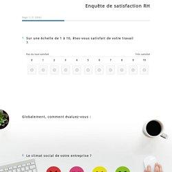Exemple d'enquête de satisfaction RH