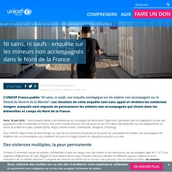 Ni sains, ni saufs : enquête sur les enfants seuls à Calais, Grande-Synthe et ailleurs...