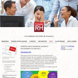 Enquête sur le bonheur, plaisir et engagement au travail ! — Patrimoine RH