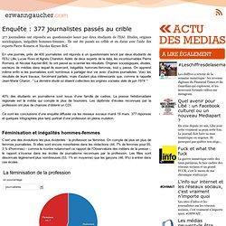 Enquête : 377 journalistes passés au crible
