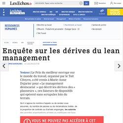 Enquête sur les dérives du lean management, Harcèlement au travail