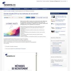 Grande enquête 2015 sur les méthodes de recrutement