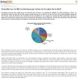 Enquête sur la BD numérique par izneo et le Labo de la BnF