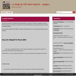 Enquête policière - Le blog du CDI Saint Martin