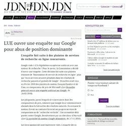 L'UE ouvre une enquête sur Google pour abus de position dominante