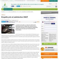 Enquête prix et satisfaction SNCF