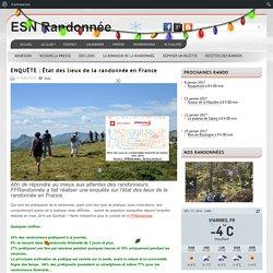 ENQUÊTE : État des lieux de la randonnée en France ESN section randonnée