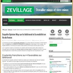 Enquête Opinion Way sur le télétravail et la mobilité en Ile-de-France