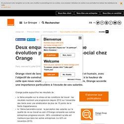 Deux enquêtes confirment une évolution positive du climat social chez Orange