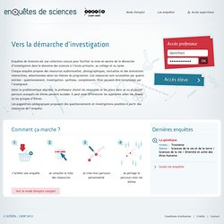 RUB. SITE Canopé : Enquêtes de sciences
