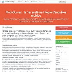 Mobi-Survey, enquêtes mobiles sur smartphones et tablettes