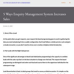5 Ways Enquiry Management System Increases Sales