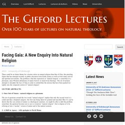 Facing Gaia: A New Enquiry Into Natural Religion - The Gifford Lectures