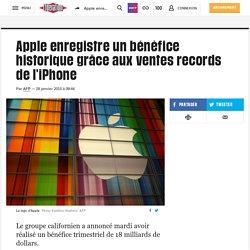 Apple enregistre un bénéfice historique grâce aux ventes records de l'iPhone