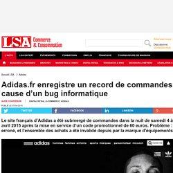 Adidas.fr enregistre un record de commandes à... - Sport, Articles sportifs