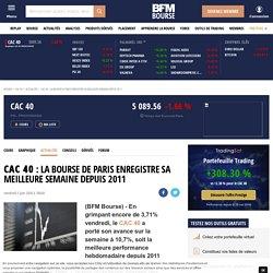 Cac 40 : La Bourse de Paris enregistre sa meilleure semaine depuis 2011