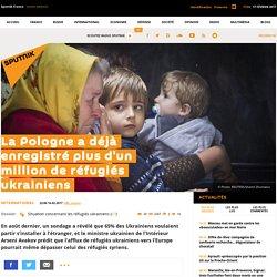 La Pologne a déjà enregistré plus d'un million de réfugiés ukrainiens