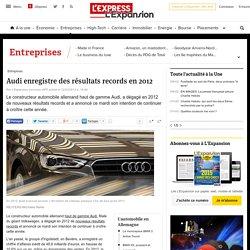 Audi enregistre des résultats records en 2012