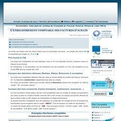 L'enregistrement comptable des factures d'achats