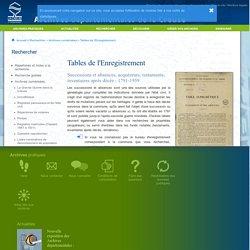 Archives départementales de la Creuse - Archives numérisées - Tables de l'Enregistrement