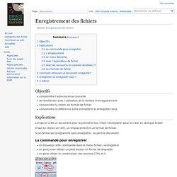 Enregistrement des fichiers — Wikicyb