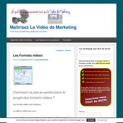 Quel format d'enregistrement vidéo utiliser pour le Web ?
